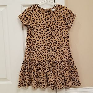 NWT Corduroy Leopard Print Dress